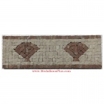 "Harbor (rojo), Honed Mosaic Tile Listello 4"" x 12"""
